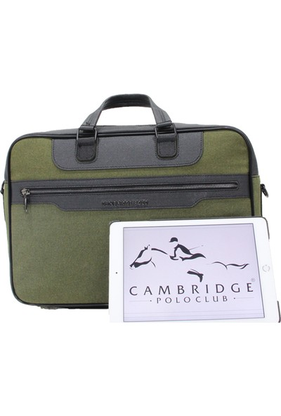 Cambridge Polo Club Kanvas Evrak Çantası Plevr50041 Yeşil