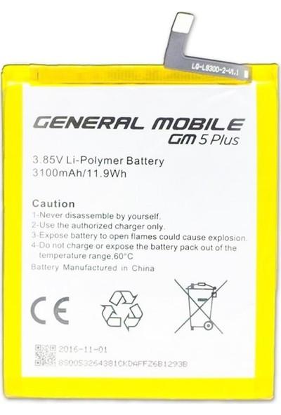Yedekyedek General Mobile GM5 Plus Batarya Pil A++ Lityum İyon Pil