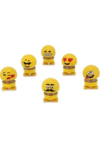 Çılgın Kafalar Sallanan Kafalar Emoji Çılgın Kafalar Sallanan Oyuncak 6 Adet