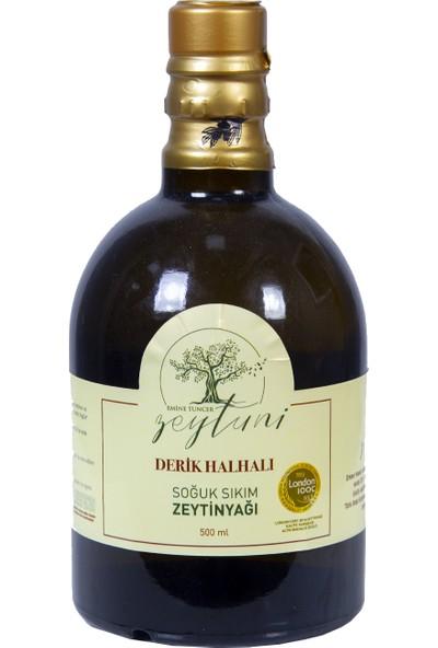 Emine Tuncer Zeytuni Derik Halhalı Özel Üretim Erken Hasat Soğuk Sıkım Zeytinyağı 500 ml Şişe