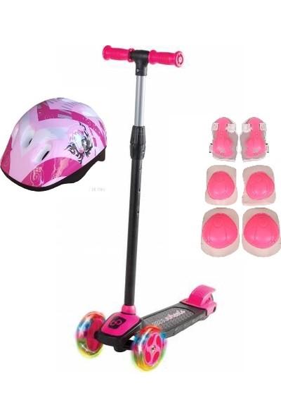 Cool Wheels LED Işıklı 3 Tekerlekli Yükseklik Ayarlı Twist Çocuk Scooter (+3 Yaş) Kask Dizlik Dahil
