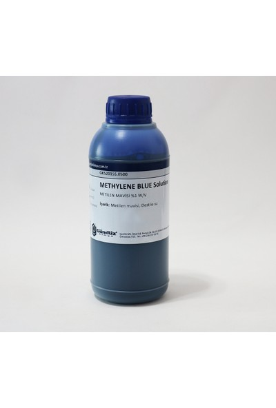 Gündüz Kimya Metilen Mavisi Çözeltisi - 500 Ml