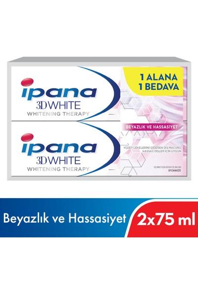 Ipana 3 Boyutlu Beyazlık Therapy Hassas Beyazlık Diş Macunu 1 Alana 1 Bedava Paketi (75 ml + 75ml)