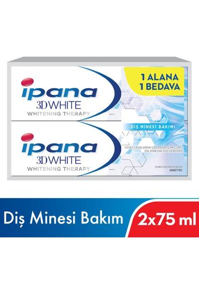 Ipana 3 Boyutlu Beyazlık Therapy Diş Minesi Bakımı Diş Macunu 1 Alana 1 Bedava Paketi (75 ml + 75ml)