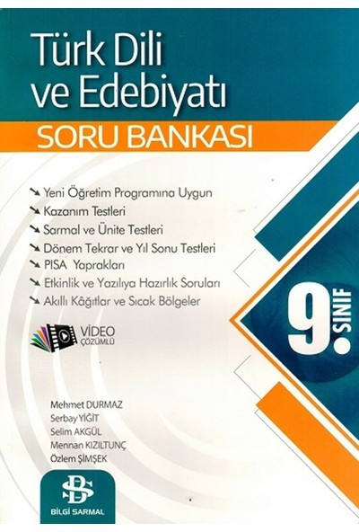 Bilgi Sarmal Yayınları 9. Sınıf Türk Dili Ve Edebiyatı Soru Bankası - Mehmet Durmaz