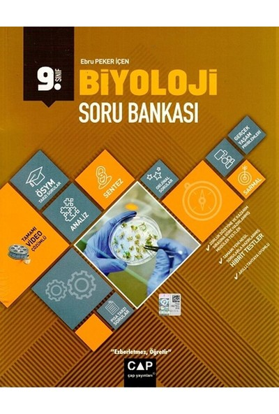 Çap Yayınları 9. Sınıf Anadolu Lisesi Biyoloji Soru Bankası - Ebru Peker İçen