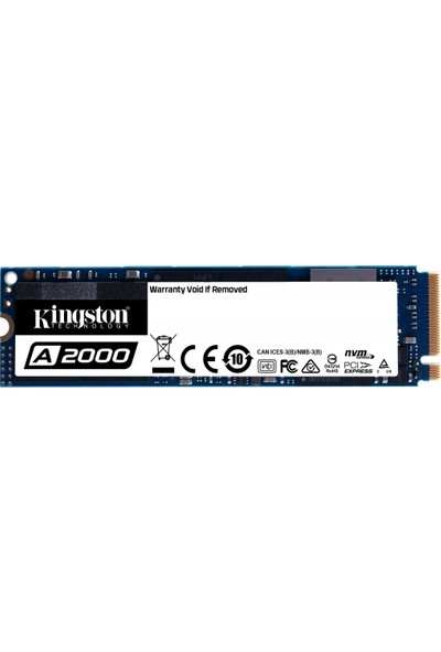 Kingston A2000 500GB PCIe NVMe SSD SA2000M8/500G