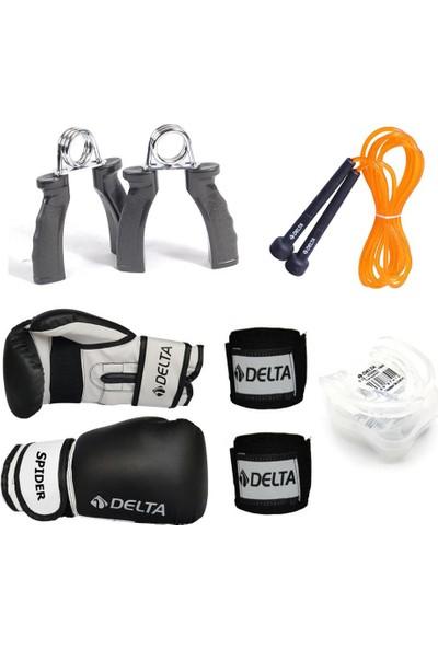 Delta Fist Boks Seti (Boks Eldiveni - El Bandajı - Atlama İpi - Dişlik - El Yayı)