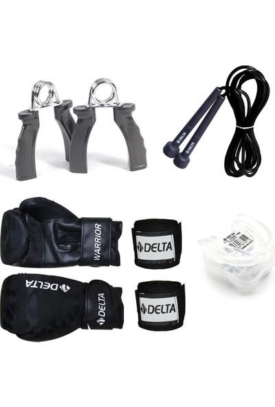Delta Front Boks Seti (Boks Eldiveni - El Bandajı - Atlama İpi - Dişlik - El Yayı)