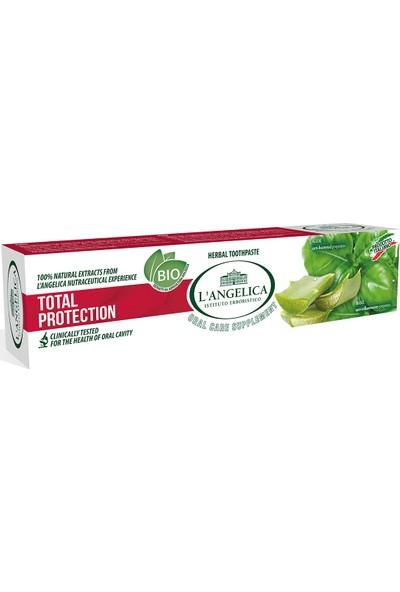 L'Angelica Total Koruma (Total Protection) Fesleğen,Aloe Vera,Kekik Diş Macunu 75 ml