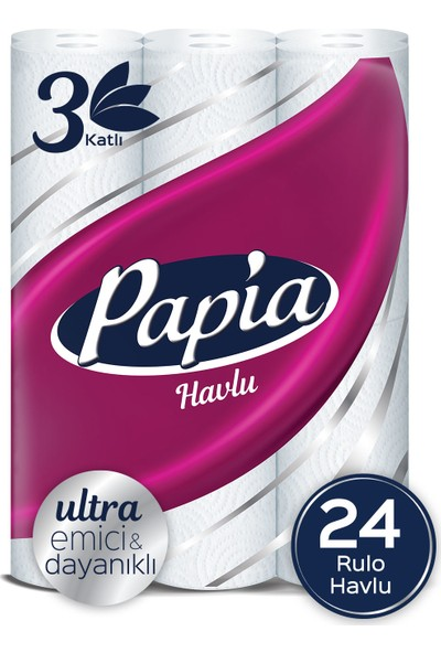 Papia Kağıt Havlu Jumbo Paket 24 Rulo