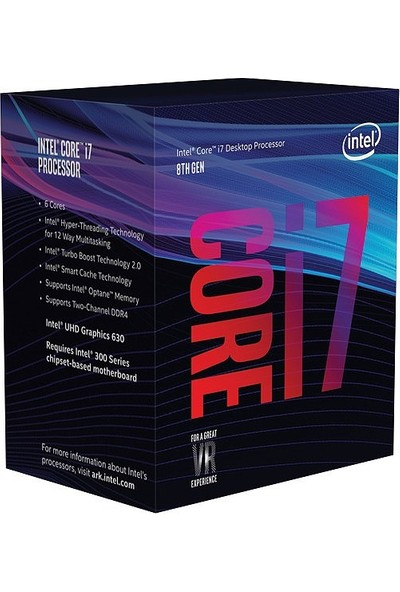 Intel Core i7 9700F 3.0GHz LGA1151 12MB Cache İşlemci