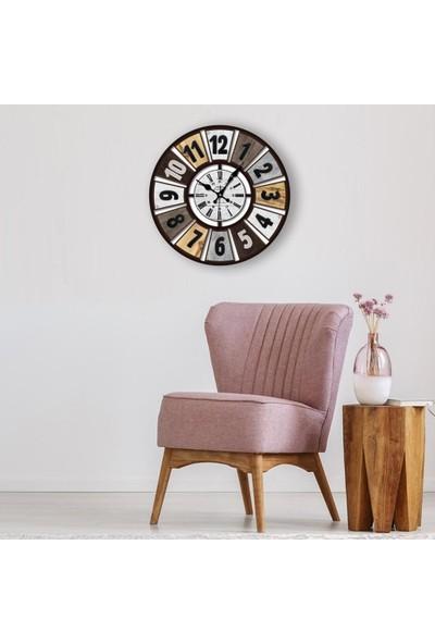 Muyika Rento Plastik Baskılı Duvar Saati 70X70CM