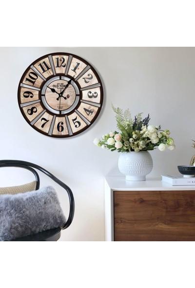 Muyika Torin Plastik Baskılı Duvar Saati 70X70CM