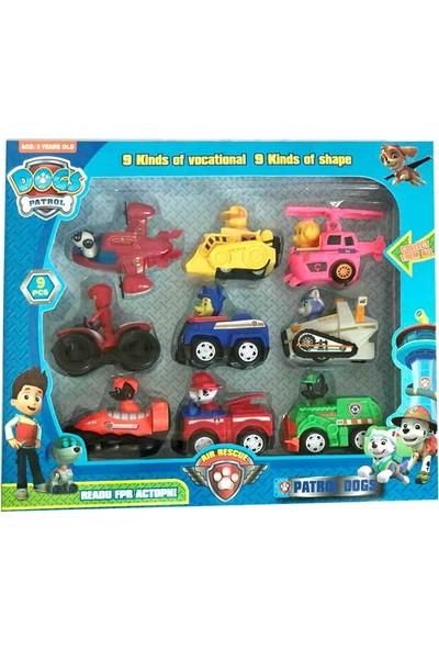 E-kids Paw Patrol Oyuncak Görev Araçları 9'lu Set