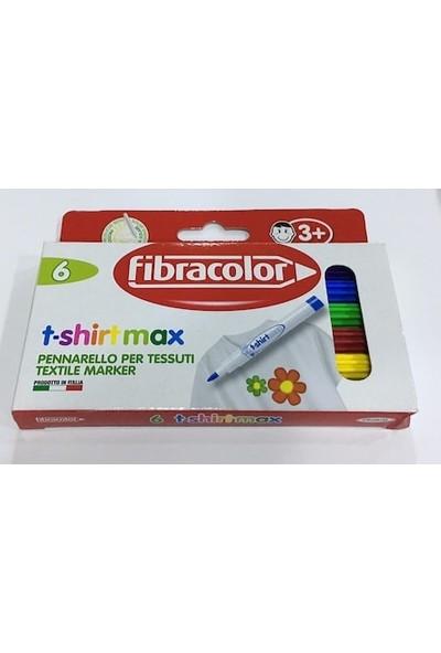 Fibracolor Tişört Kalemi T-Shirt Max Textil Kalemleri 6 Renk