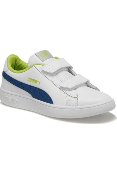 Puma Smash V2 L V Ps Beyaz Unisex Çocuk Sneaker Ayakkabı