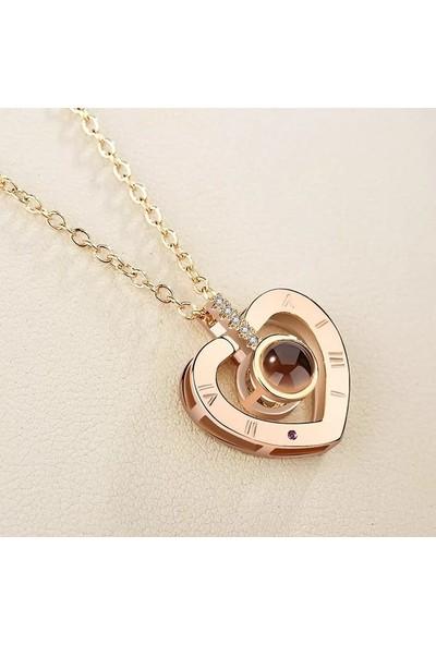 Avantajewellery Senısevıyorumkalp Kalp Modelli 100 Dilde Seni Seviyorum Kolye - Aşk İlanı ,Doğum Günü Hediyesi - Özel Kutusunda