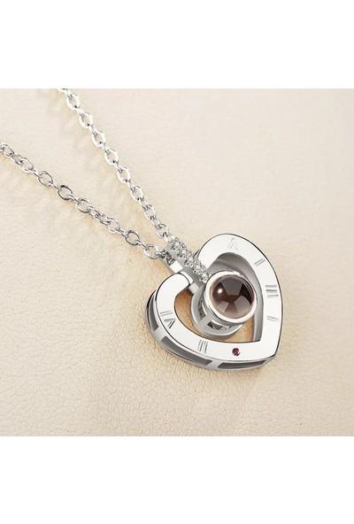 Avantajewellery Senısevıyorumkalp2 Kalp Modelli 100 Dilde Seni Seviyorum Kolye - Aşk İlanı ,Doğum Günü Hediyesi - Özel Kutusunda