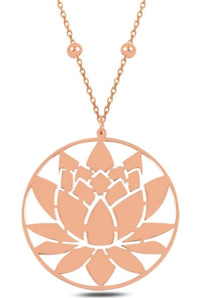 Mercan Silver Gümüş Lotus Çiçeği Kolye
