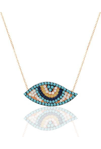 Nayino Takı 30117 Göz Gümüş Kolye