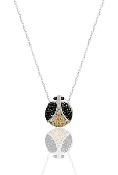 Nayino Takı 30186 Uğur Böceği Gümüş Kolye