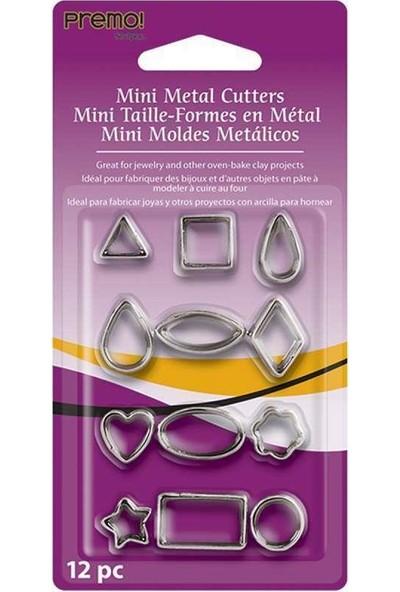 Sculpey Premo Metal Kalıplar Metal Kesiciler Geometrik 12 Parça Ammc