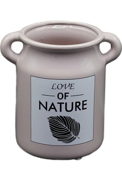 Modern Revizyon Naturel Vazo Geniş PR1694