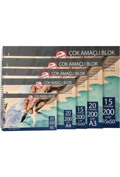 Talens Çok Amaçlı Eskiz Çizim Defteri Blok 200 gr 20 yp A4