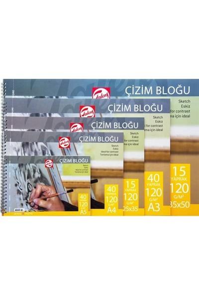 Talens Eskiz Çizim Defteri Resim Bloğu 120 gr 15 yp 25x35 cm.