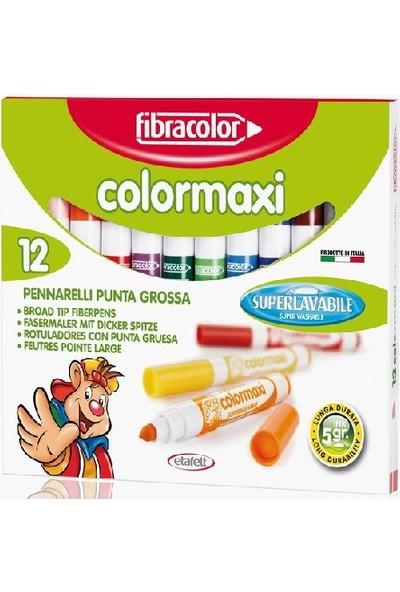 Fibracolor Colormaxi Yıkanabilir Su Bazlı Jumbo Keçeli Kalem 12 Renk