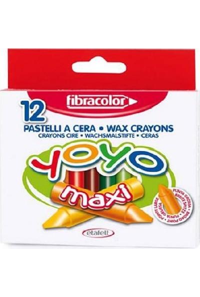 Fibracolor Yoyo Maxi Boy Mumlu Pastel Boya Kalemi 12 Renk