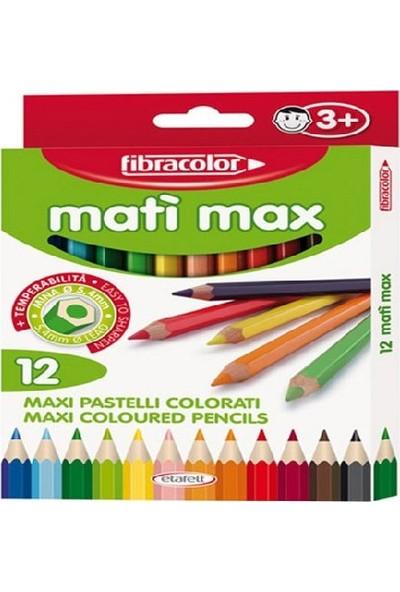 Fibracolor Mati Max Kalın Kuru Boya 12 Renk