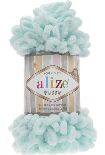 Alize Puffy 015 Cam Göbeği 5 Adet Parmakla Işlenen Örgü Ipi