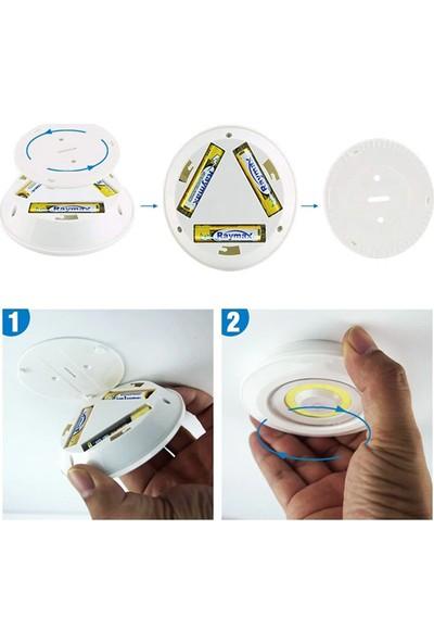 Fatih Uzaktan Kumandalı 3'lü Spot LED Lamba Kablosuz Pilli Işıldak