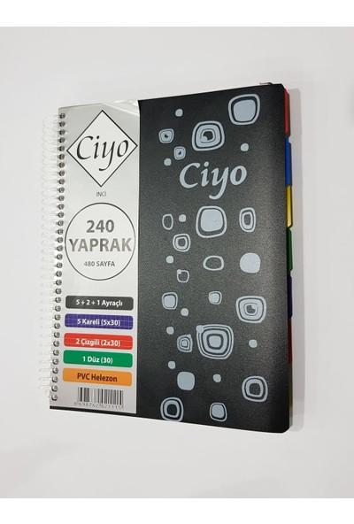 Ciyo 5+2+1 Ayraçlı 240 Yaprak Defter