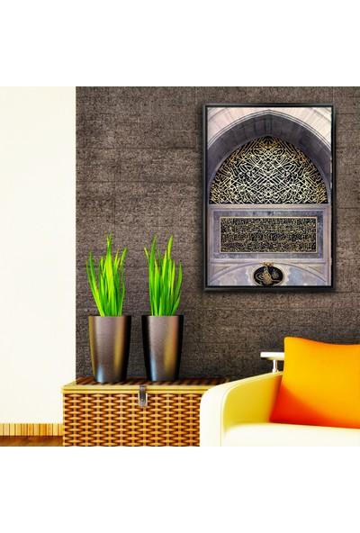 Dekorme Siyah Çerçeveli Dekoratif 520 Kanvas Tablo