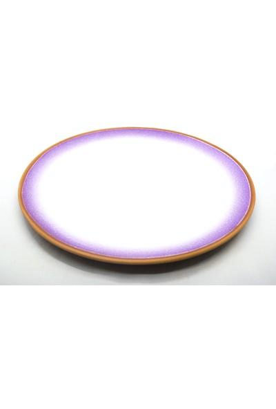 Doğa Çömlekçilik Toprak 2 Renkli Servis Tabağı - 30 cm