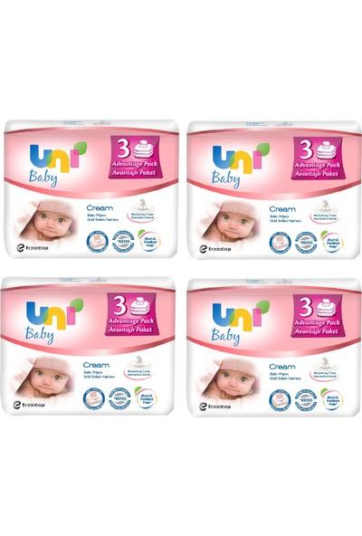 Uni Baby Cream Islak Havlu 12'li / 672 Yaprak