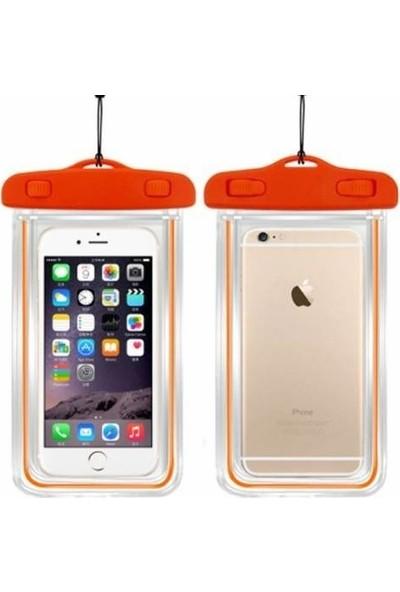 Leyaton Apple iPhone 6/6S Su Geçirmez Telefon Kılıfı Turuncu