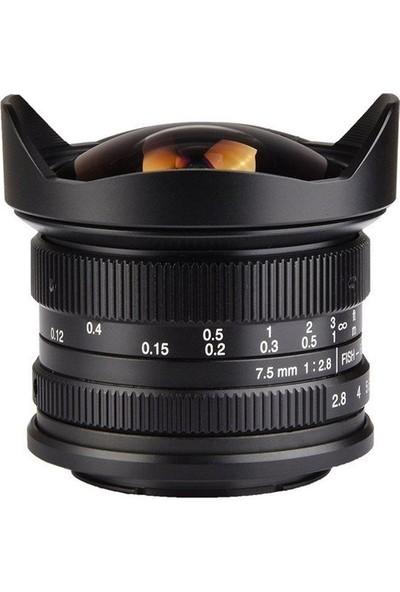 7artisans 7.5mm F2.8 APS-C Fisheye Fixed Lens (M43 Panasonic ve Olympus Mount)