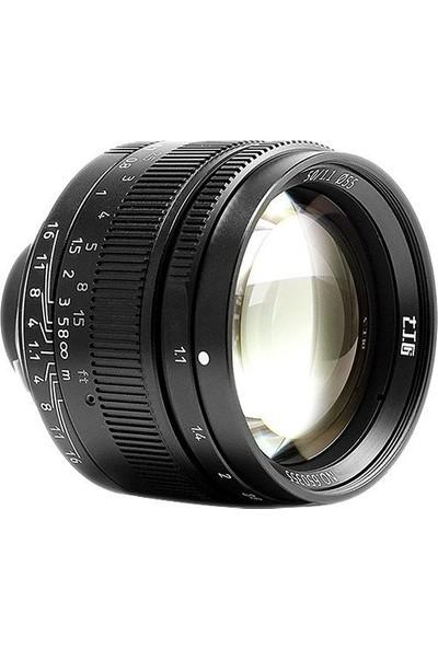 7artisans 50mm F1.1 Fixed Lens (Leica M-mount) Siyah