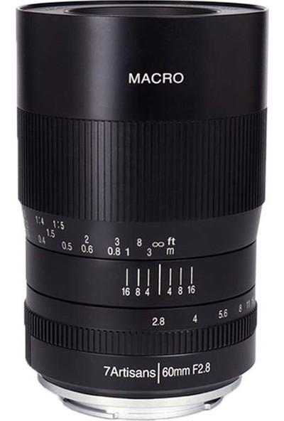 7artisans 60mm F2.8 Macro APS-C Lens Fuji (FX-Mount)