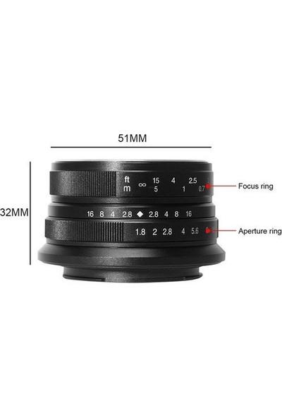7artisans 25mm F1.8 Manual Focus Prime Fixed Lens Fuji (FX-Mount)