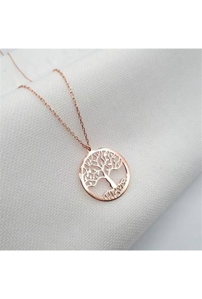Nereze 925 Ayar Hayat Ağacı Kolye Bayan Gümüş Kolye