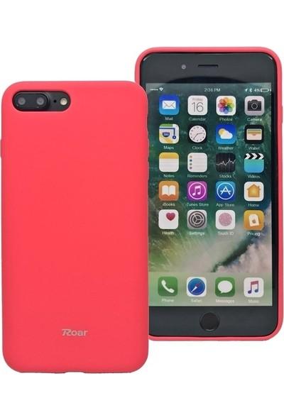 DVR Apple Roar iPhone 7 Plus Kılıf Jelly Silikon + Nano Cam Ekran Koruyucu Kırmızı