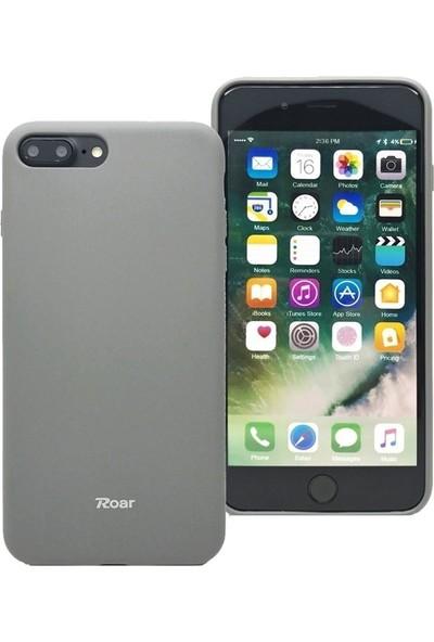 DVR Apple Roar iPhone 7 Plus Kılıf Jelly Silikon Gri