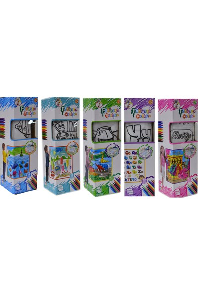 Gepettoys Boya Yıka Boyama Halısı 5 Li Set 12 Kalem Hediyeli 50 x 50 cm