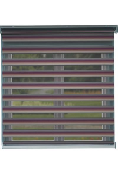 Perdejim Zebra Perde Eflatun Fuşya Geçişli Geniş Pliseli 100x200 cm