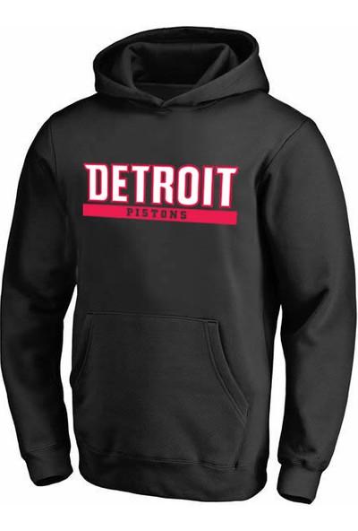 Detroit Pistons Kapüşonlu Sweatshirt